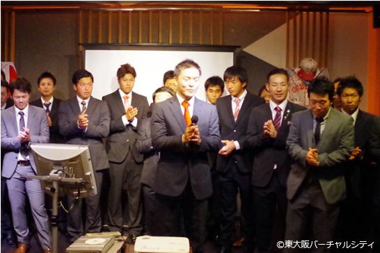 佐々木副キャプテンの1本締め 06BULLS優勝祝勝会