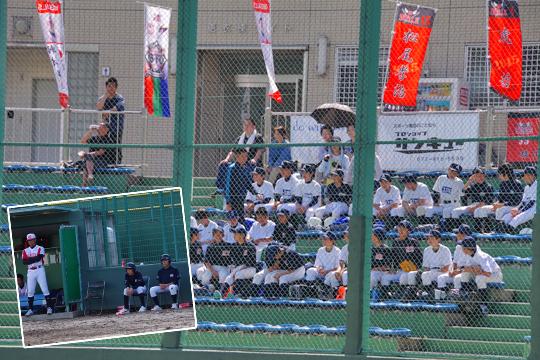 この日は東大阪市内中学校の軟式野球部の皆さんがRCCjapan株式会社様のご厚意でご招待。 ボールボーイも務めてくれました。