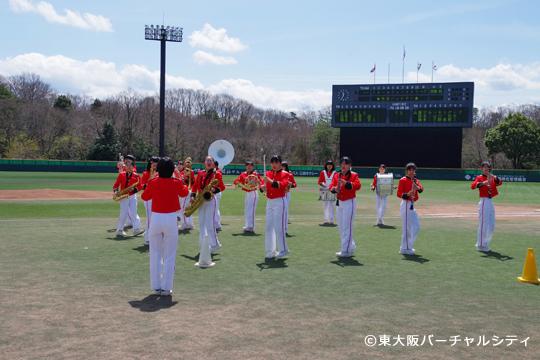 BFL開幕戦 地元中学生のブラスバンド部