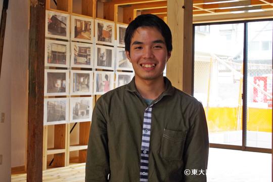 プロジェクトの代表を務める建築学部4回生の浅井駿平さん