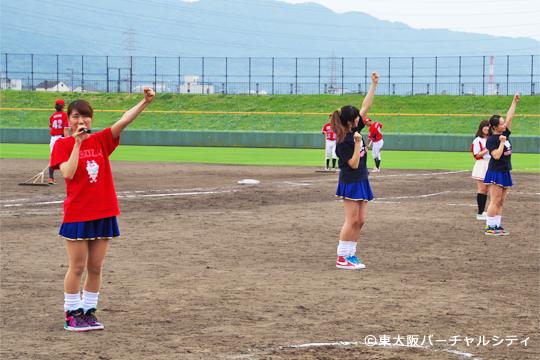5回裏終わりにはブルズの球団歌「君とともに」とあわせたブルズダンスの練習を大阪ダンサーと一緒に!