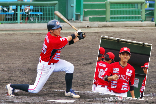 今シーズン、チャンスで結果を出している松尾。この日も3安打2打点の活躍