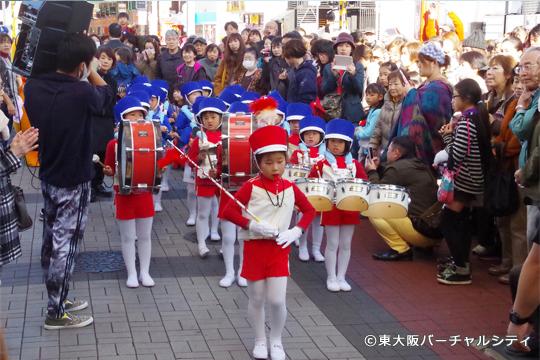 白鳩保育園さんによる鼓笛隊 瓢箪山音楽祭