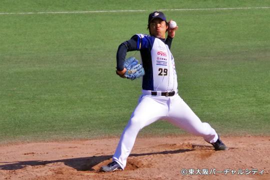 元阪神・ヤンキース・オリックスの井川慶投手が7・8回に登板。8回の三連続三振は圧巻