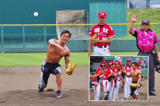ドラゴンゲート 吉野正人選手 始球式