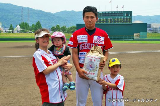 そして我が東大阪バーチャルシティからは七野選手へ