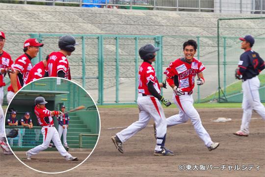 最後の最後にこの男がやってくれました!松尾が満塁のチャンスで逆転3点サヨナラタイムリー!