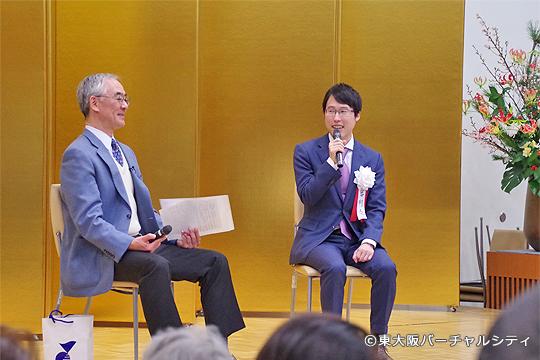 井山裕太さん、谷岡一郎さんと記念対談