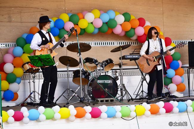奥村兄弟とTU-KOのステージ。布施でもアーティストステージやりたいです!