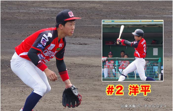 新人紹介:東大阪バーチャルシティ一押しの #2 洋平。雄一の実の弟です。大阪府出身の18歳、高卒ルーキーです