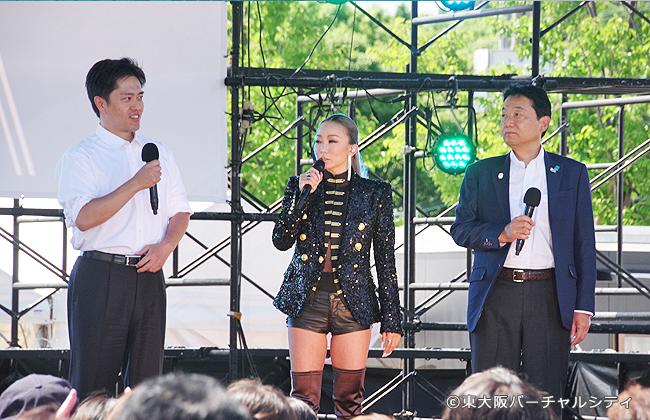 吉村府知事と野田東大阪市長も来場され、花園開催に向けての意気込みを語りました