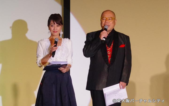 今年も司会はロケのレジェンド タージンさんと東大阪市の広報番組「虹色ねっとわーく」でおなじみの永倉由季さん